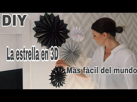 video DIY Como hacer ESTRELLAS DE NAVIDAD EN PAPEL 3D / Copos de nieve 3D