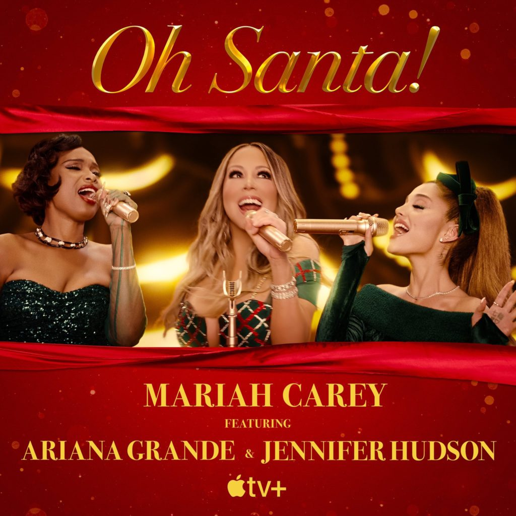 mariah-carey-ariana-grande-jennifer-hudson-oh-santa-lyrics-video